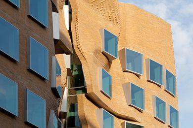 The eastern elevation of Gehry's Dr Chau Chak WIng building is a homage to Sydney sandstone - in brick.