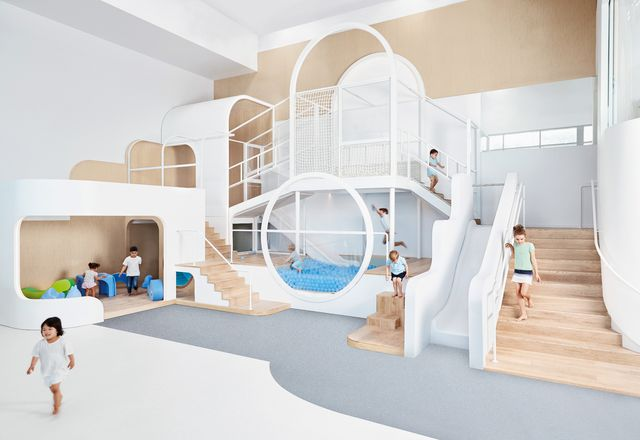 Nubo的设计师采取了极简主义的方法,只需为孩子们提供足够的家具和设备来发明自己的游戏。