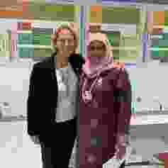 The author and Maimunah Sharif, executive director of UN-Habitat.