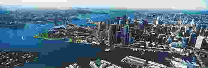 The proposal for a hotel over the harbour at Barangaroo South that was later dropped in response to public outcry.