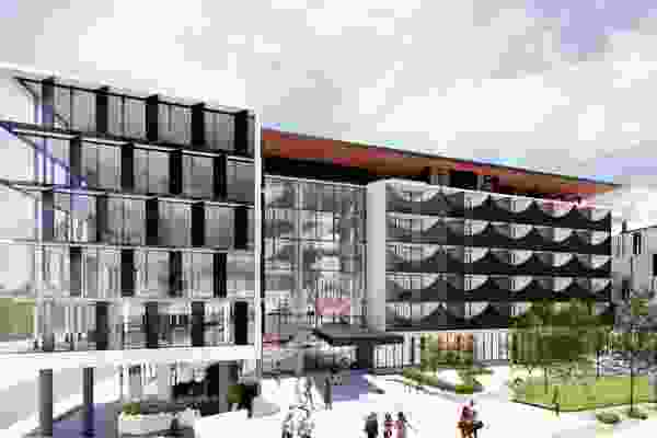 Proposed college building at Curtin University by Nettleton Tribe Architects.