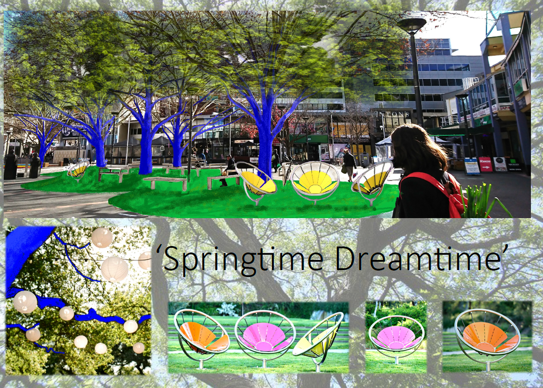 """Springtime Dreamtime"" submission to the Canberra micro park design competition."