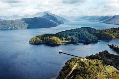 Pumphouse Point is divided into two buildings: The Pumphouse poised at the end of a jetty in Tasmanian wilderness, and The Shorehouse located on the lake's shore.