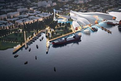 Cox Architecture's competition winning design for the Tianjin Maritime Museum in China was used by prime minister Malcolm Turnbull as an example of the opportunities for Australian architects in China.