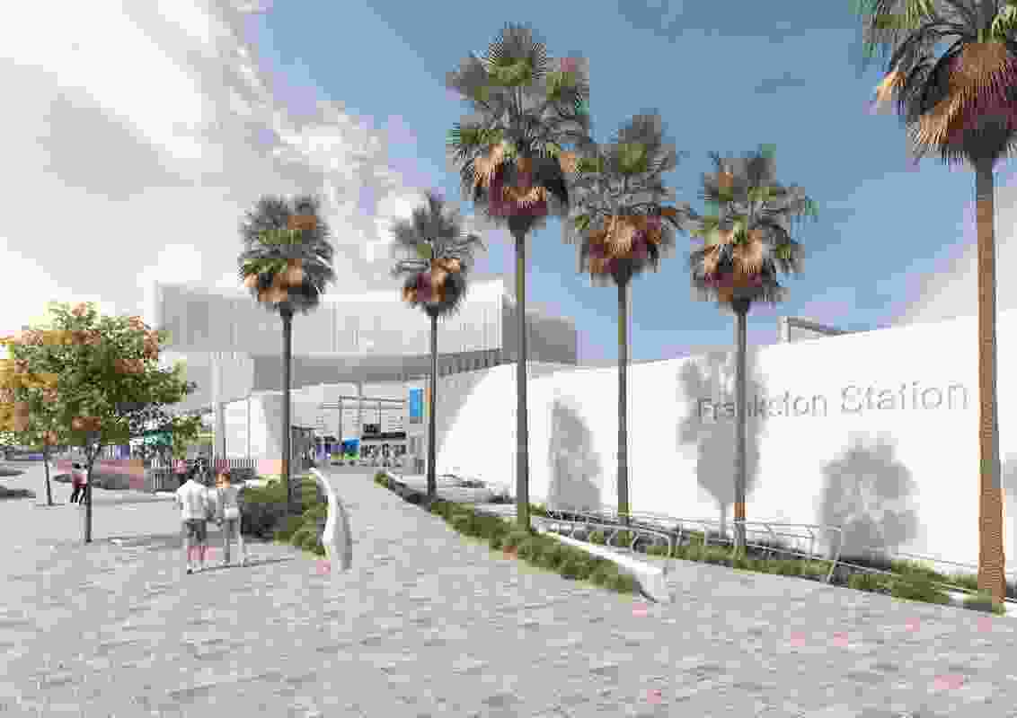 The winning design for the Frankston Station Design Competition by Genton Architecture.