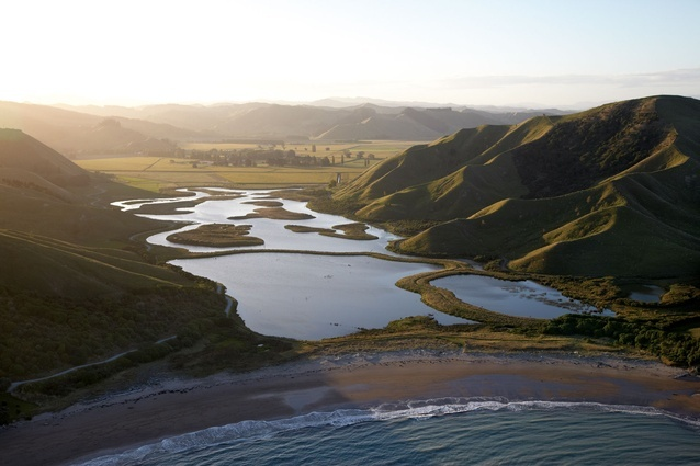 The Orongo Wetland at the southern end of Poverty Bay, NZ.