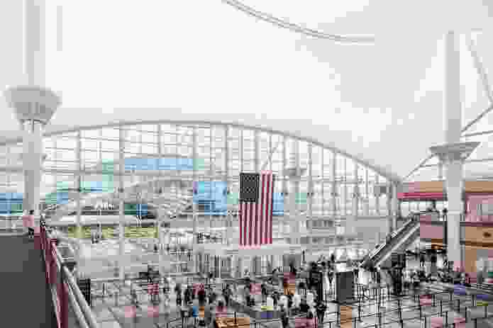 Denver International Airport, designed by Fentress Architects.