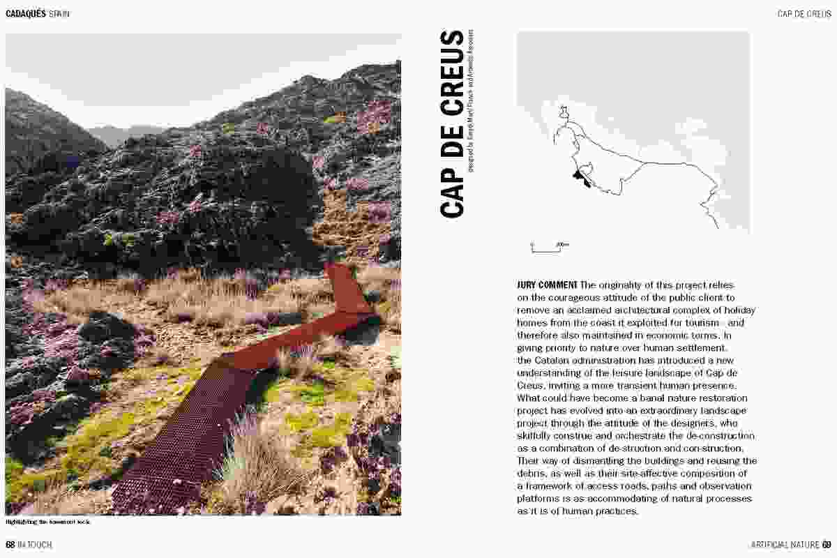 Spread from In Touch, showing Cap de Crues by Estudi Marti Franch and Ardevols Associats.