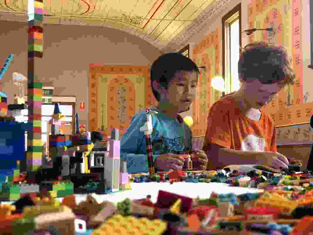 Rutherglen and Corowa Unlocked Children's Lego Workshop by Regional Design Service.