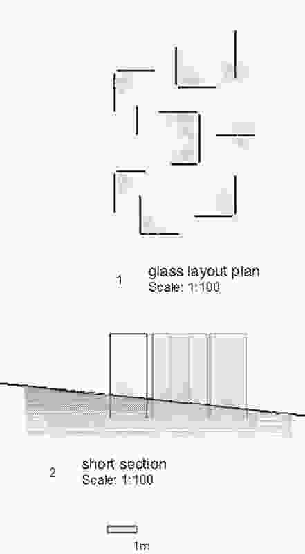 Plan and section drawing.