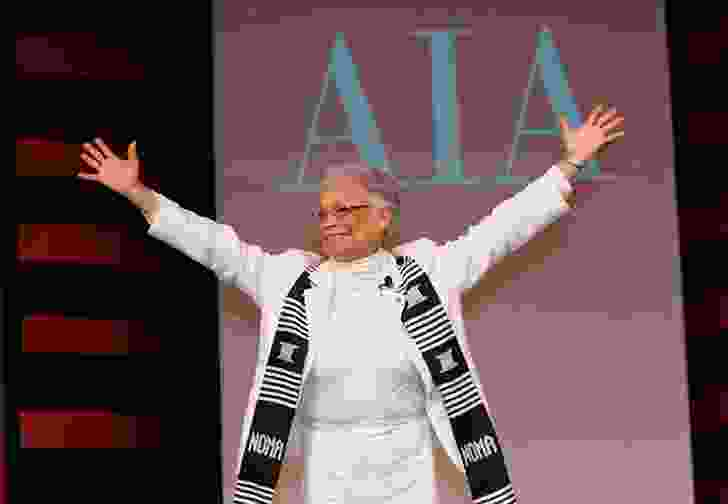 Receiving the AIA Whitney M. Young Jr.  Award in 2011.