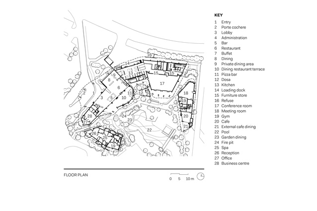 Elements of Byron floor plan.