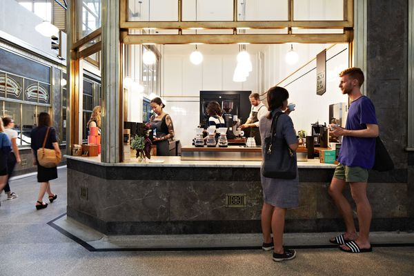 Market Lane Coffee, Queen Victoria Market by Hearth Studio