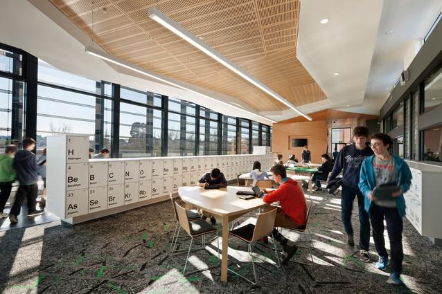 The Elizabeth Blackburn School of Sciences by ClarkeHopkinsClarke Architects.
