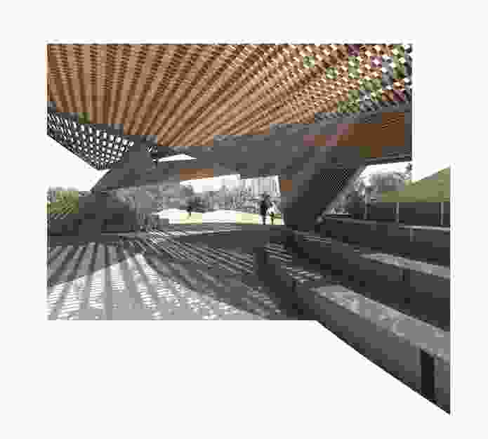 The 2018 MPavilion by Estudio Carme Pinós will be made from timber latticework.