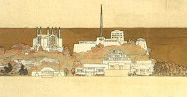 Detail showing cathedral and military college. NAA: A710, 45.
