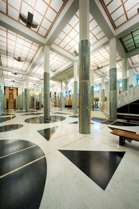 The marble foyer of Parliament House.