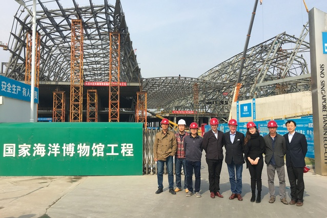 Anya Meng on Cox Architecture's second official site visit to the National Maritime Museum of China, Tianjin ( 2016 ).