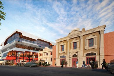 Devonport's proposed multi-purpose civic building designed by Lyons Architects, Birrelli Architects and Maddison Architects.