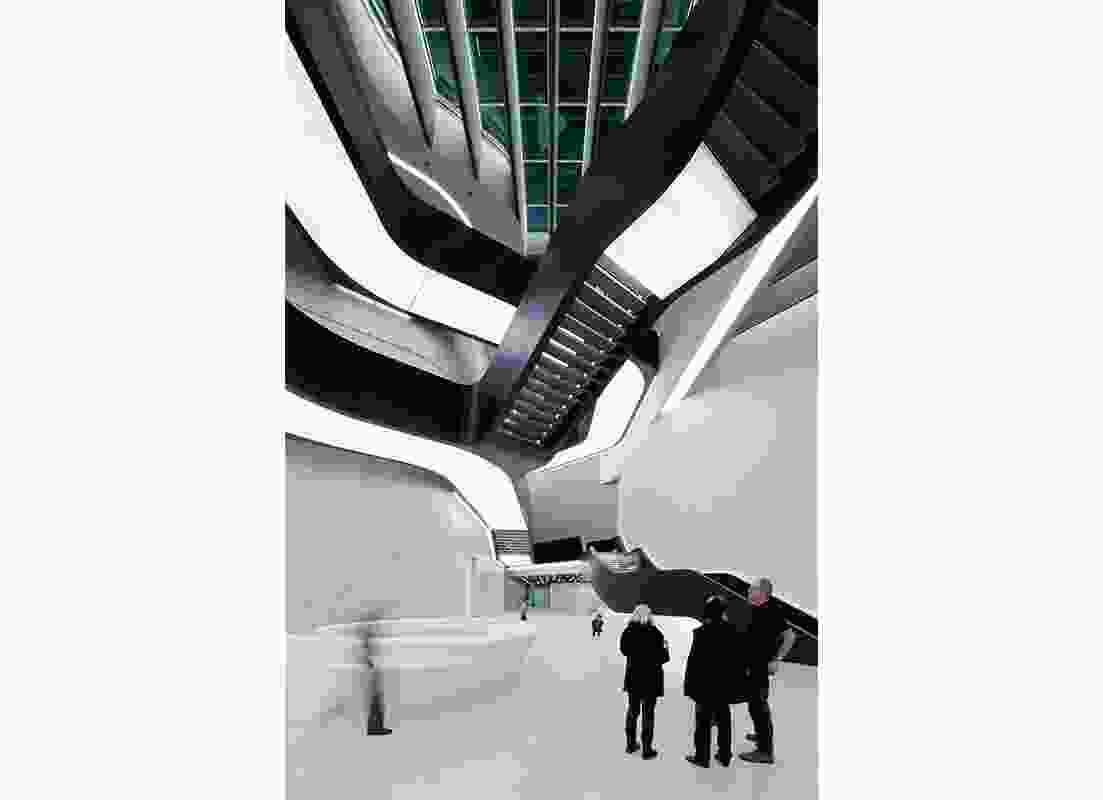 MAXXI Museum of Art by Zaha Hadid Architects.