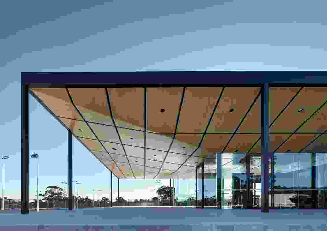 The Playford Tennis Centre by JPE Design Studio.