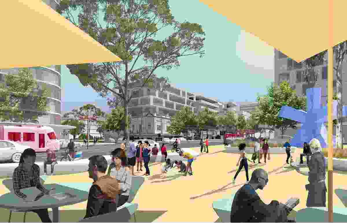 K2K proposal – Todman Avenue Square by James Mather Delaney Design Landscape Architects, Hill Thalis Architecture and Urban Projects, Bennett and Trimble Architecture and Urban Projects.
