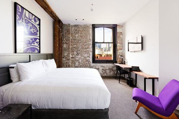 King deluxe suite at 1888 Hotel, Pyrmont NSW.