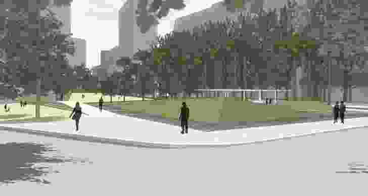 Conceptual design for Drying Green Park by McGregor Coxall.
