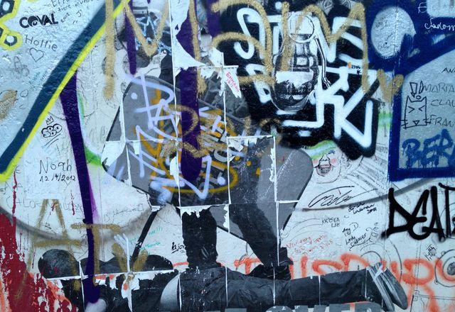 Berlin graffiti can be grim or kooky.