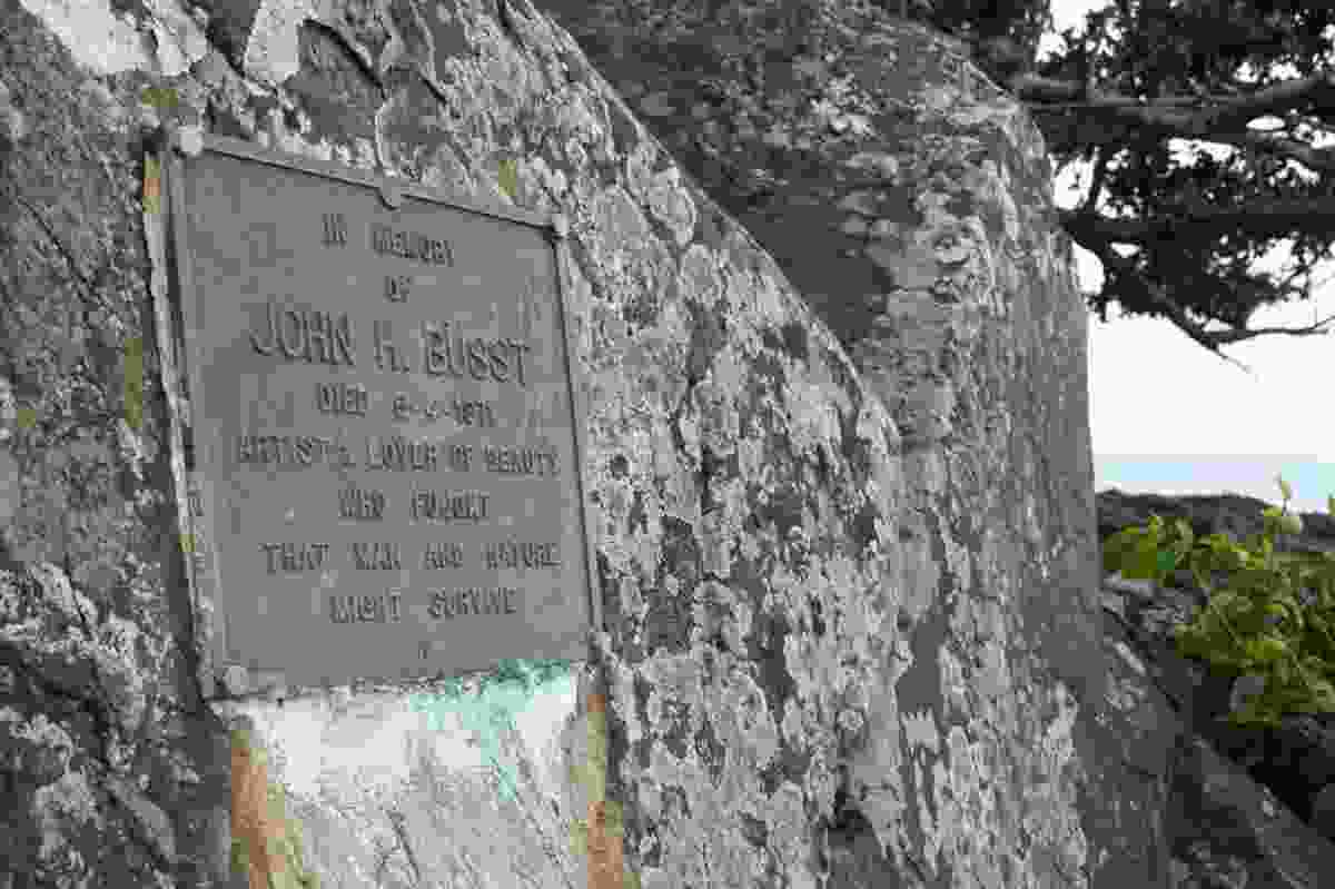 The John Buust memorial plaque at Ninney Rise