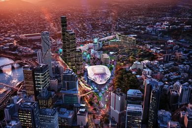 The proposed Brisbane Live development by NRA Collaborative.
