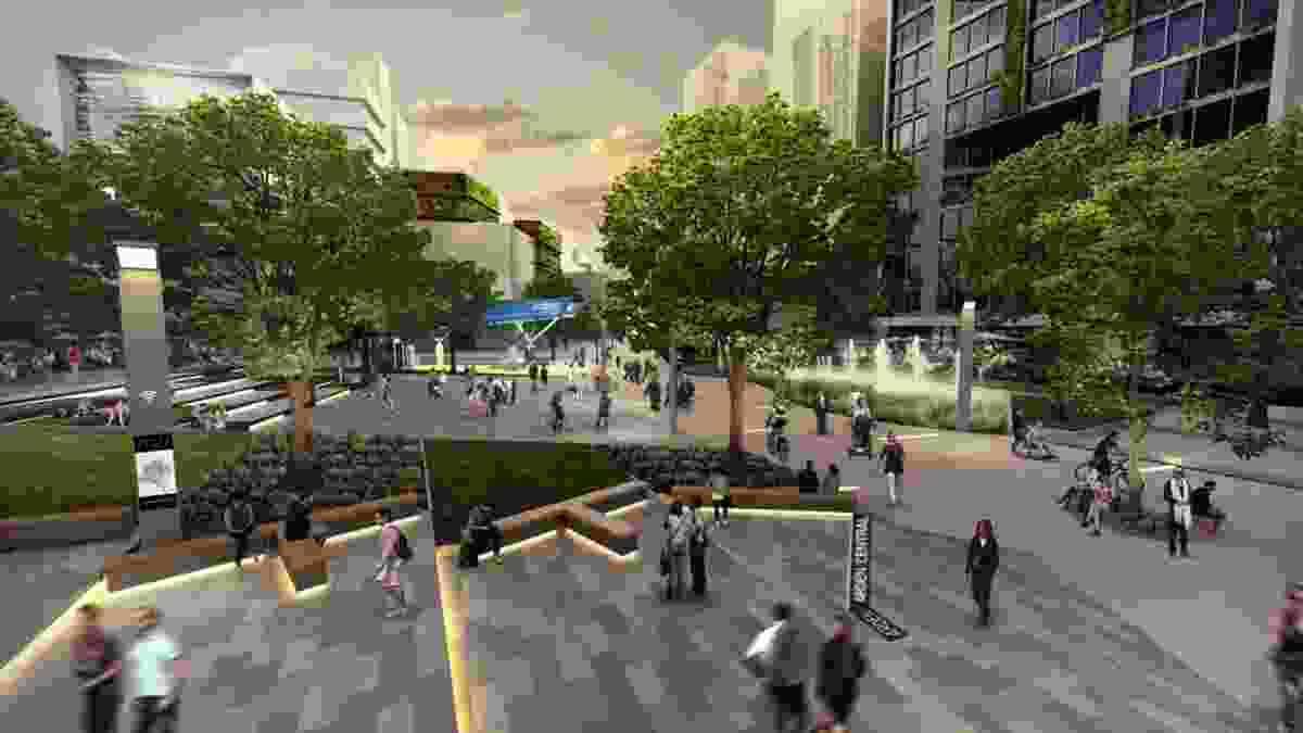 Visualization of the proposed Arden precinct civic heart.