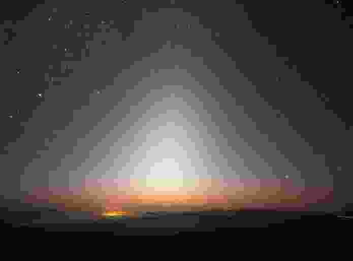 Zodiacal light over La Silla.