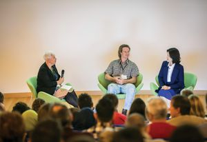 University of Melbourne academic Jillian Walliss in a panel discussion with Jungyoon Kim and Mike Hewson.