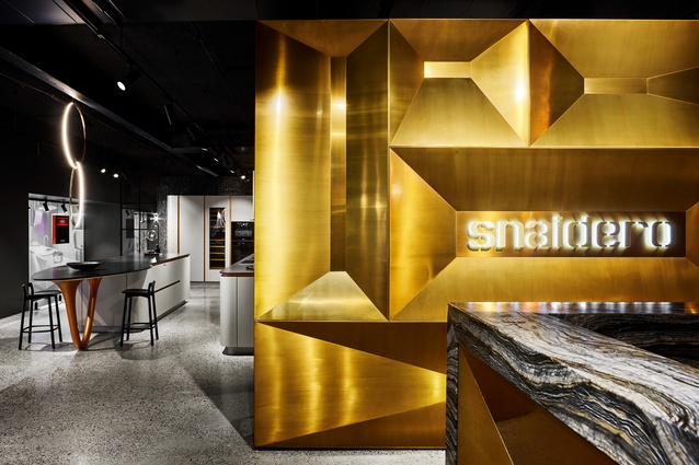 The reception desk at the Snaidero Sydney showroom.