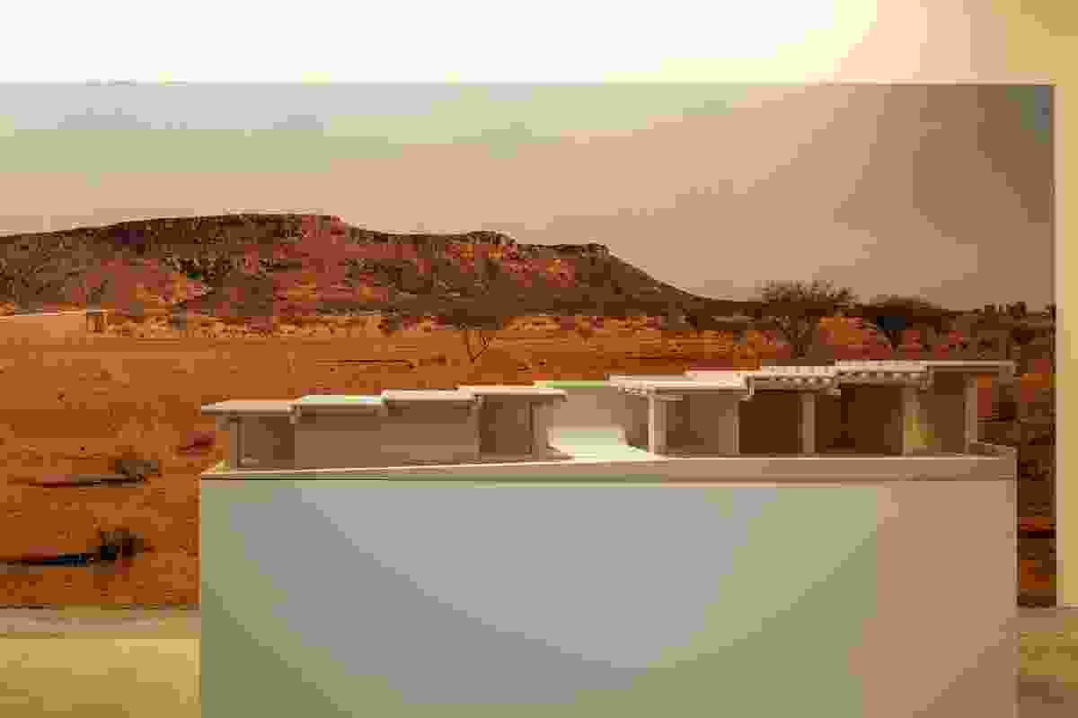 Model of the Naga Site Museum, Sudan by David Chipperfield Architects.