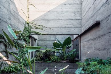 The house forms a habitable perimeter around a lush garden courtyard, which offers both openness and privacy.