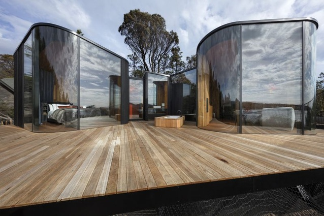 Liminal Architecture's Freycinet Lodge Coastal Pavilions took home prizes in two categories, Small Architecture and Hospitality Architecture.