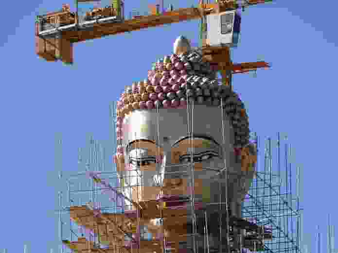 Designed by Buro Architects, the Buddha Dorenma is sixty metres tall and sits on a Vajra throne, symbolizing indestructibility.