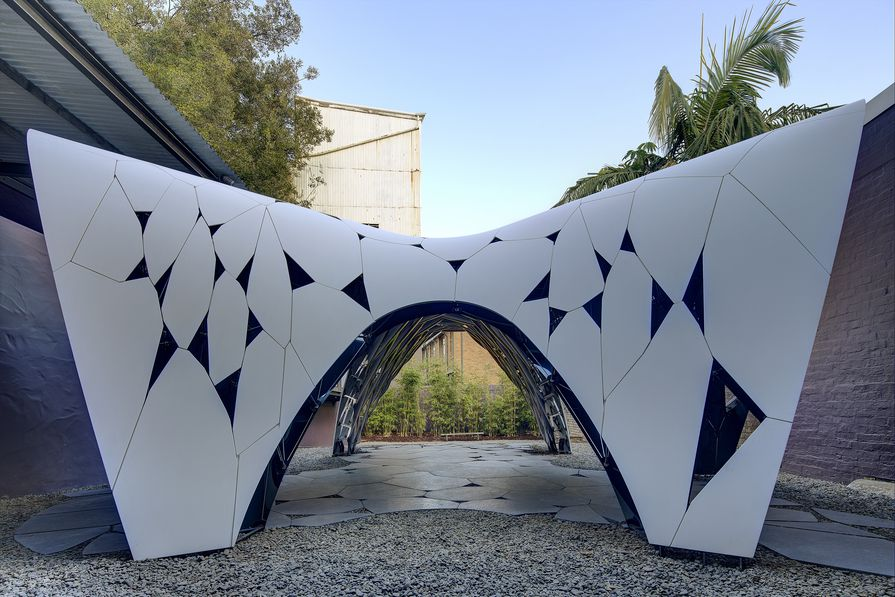 Trifolium by AR-MA, the second commission in the Sherman Contemporary Art Foundation's Fugitive Structures series.