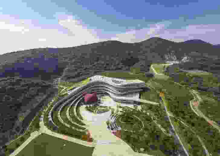 Nanjing Tangshan Geopark Museum public realm by Hassell.
