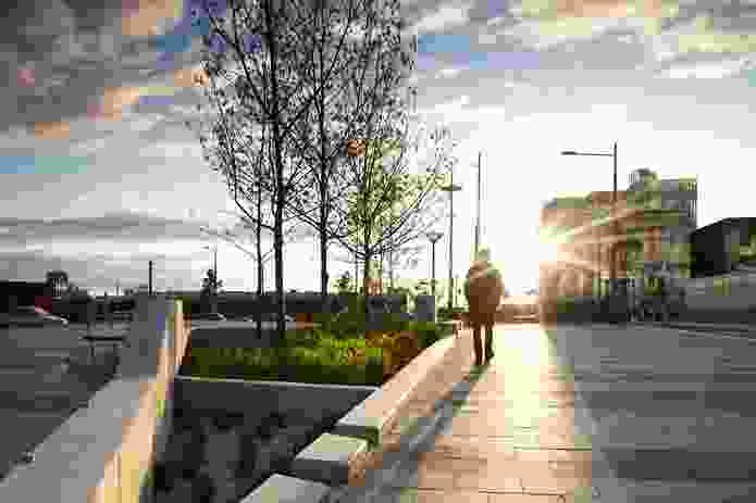 Aspect Studios – City Street and Station North Plaza, Dandenong, Victoria (2009-2011).
