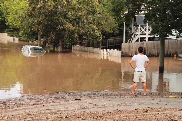 The flood in Brisbane's Auchenflower, 13 January 2011.