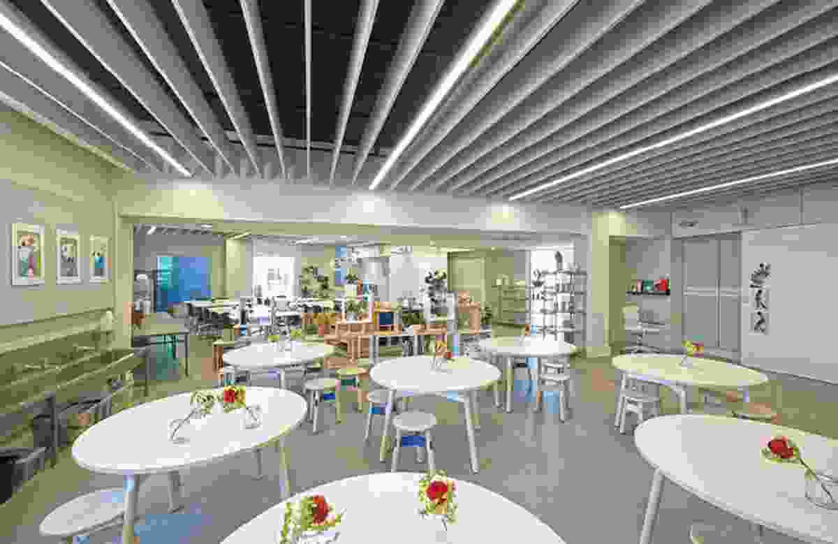 Classrooms are configurable to suit many pedagogical methods, and differing internal arrangements show that a number of approaches are being used.