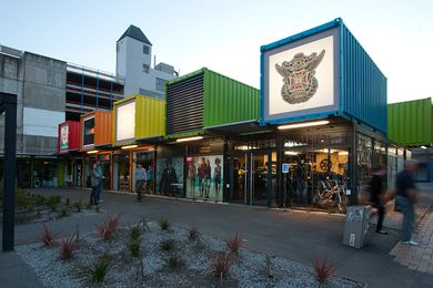 Brisbane's The Buchan Group has designed a temporary shopping mall for Christchurch.