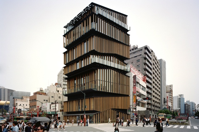 asakusa culture tourist information center by kengo kuma and associate 2012