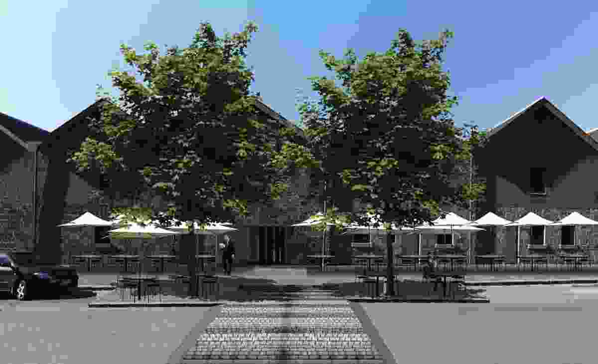 After: The Hickson Road side of the buildings will also be altered to accommodate outdoor dining and more pedestrian activity.