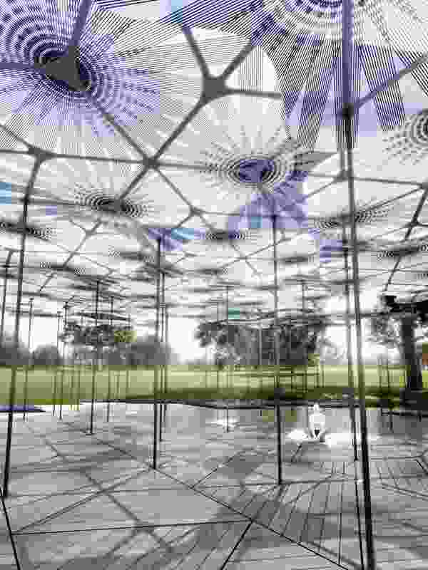 The petal-like structures of Levete's MPavilion will be made using ultra-thin composite materials, with each shape around three to five metres wide.