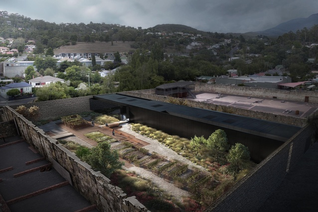 The winning proposal for the Cascades Female Factory History and Interpretation Centre by Liminal Studio, Snøhetta and Rush Wright Associates.