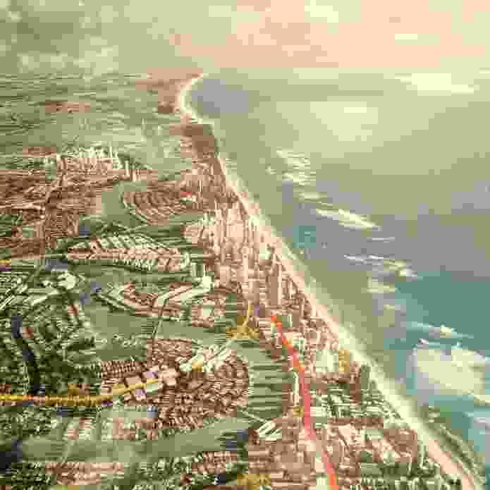 GCRT 2031 Gold Coast Rapid Transit Corridor Study by Hassell.